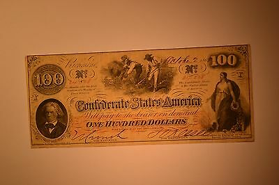 Confederate $100 Note- October 2, 1862 T-41-  Very Fine