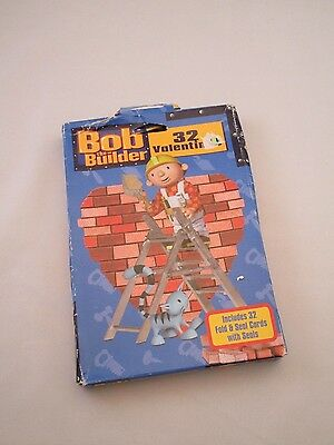 BOB THE BUILDER VALENTINES CARDS, Class Valentine's Day cards, fold & seal cards
