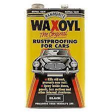 Hammerite Waxoyl Rustproofing For Cars Black Refill Can 5 Litre