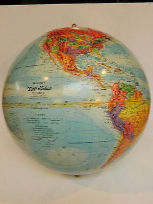 Vintage Replogle World Nation Series Globe Raised Relief Leroy Tolman USSR