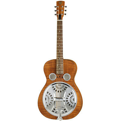 Resonatorgitarre Dobro Hound Dog Deluxe Roundneck Resonator Gitarre NEU