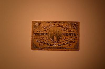 3 Cent Fractional Note- Third Issue- Toned Fine.