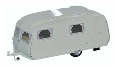 Oxford Diecast Carlight Continental Caravan Light Grey OO Scale (suit HO also)
