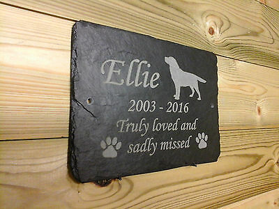 1st 4 Signs - Slate memorial plaques - Beautiful Commemorative Pet Grave Marker