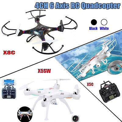 X5SW X5C-1 X8C 2.4G 4CH 6-Axis Drone RC Quadcopter Explorers HD 2.0MP Camera UK