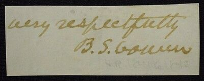 Antique Signature BS Cowen House of Representatives 1841 - 1843 OH ( Whig )