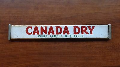 Vintage Canada Dry World Famous Beverages Metal Door Push or Display Ad Sign