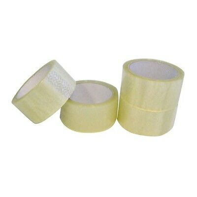 NEW 12 ROLLS Clear PARCEL PACKING TAPE PACKAGING CARTON SEALING 48MM X 66M