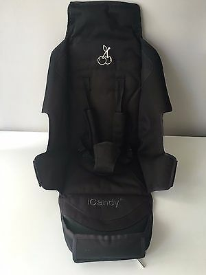 iCandy Cherry SEAT FABRIC COVER for SEAT UNIT FRAME with STRAPS & PADS  / Black
