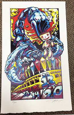 Phish AJ Masthay Poster Hampton Coliseum Mothership Oct 2013  Fare thee well MSG