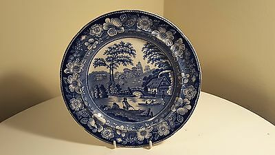 "Wild Rose Blue And White Plate 8.5 "" Diameter"