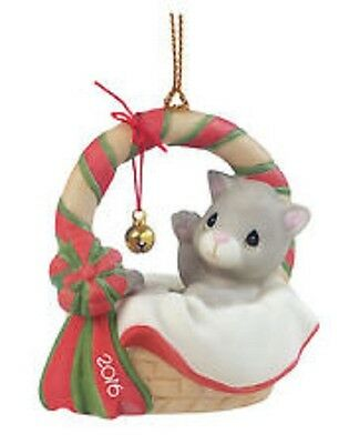 2016 PRECIOUS MOMENTS DATED CAT KITTEN ORNAMENT  ~ Meowie Christmas ~ 161009 NIB