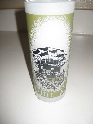 Vtg Seattle World's Fair 1962 Frosted Drinking Glass Hydro-Electric Exhibit