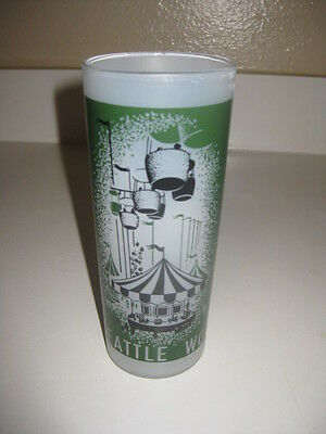 Vtg Seattle World's Fair 1962 Frosted Drinking Glass World Of Entertainment