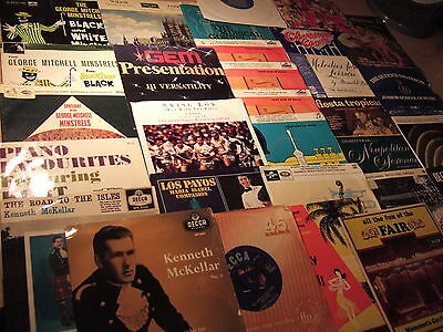 """50 x 7""""JOBLOT CLASSICAL/CHIORS/ORGAN/PIANO/MELODIES/SHOWS/BANDS MOSTLY 1960'sVGC"""