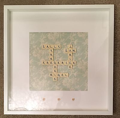 Personalised Scrabble Art Picture Frame Birthdays/Weddings/New Homes