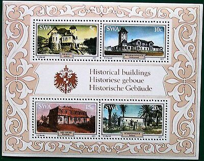 NAMIBIA 1977 MINIATURE SHEET - Historic Houses MS310 MNH