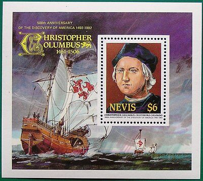 Nevis 1991 Miniature Sheet - Columbus Mnh