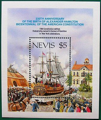 NEVIS 1987 MINIATURE SHEET - American Constitution MS470 MNH