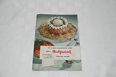 Vintage Hotpoint Electric Range Instruction Manual