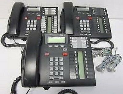 Nortel Norstar T7316E Charcoal Display Phone Telephone - New Cords - Lot of 60