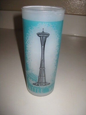 Vtg Seattle World's Fair 1962 Frosted Drinking Glass Space Needle