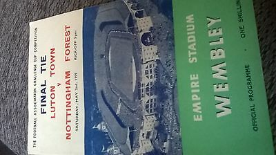 f a cup final programme 1959 luton v notts forest