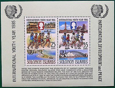Solomon Islands 1985 Miniature Sheet - International Youth Year Ms555 Mnh