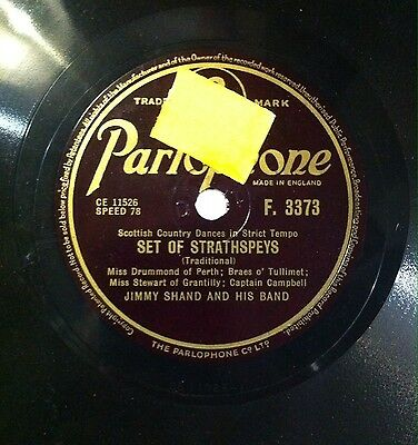 Jimmy Shand and his band. Set of Strathspeys. Parlophone records.Made in England