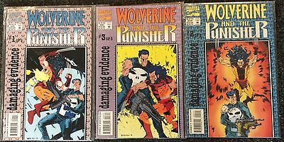 Wolverine and the Punisher - #1, 2, 3 Set  Comics by Marvel - 1993