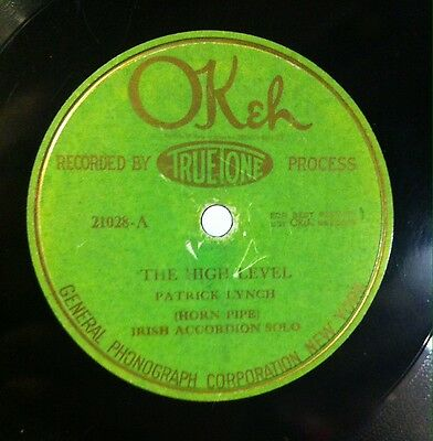 Patrick Lynch. The High Level. Okeh records.Made in USA.