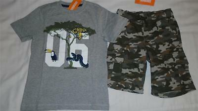 NEW Boys Size 10 12 Gymboree Outfit Tiger Snake Shirt & Camo Soft Shorts $43 NWT
