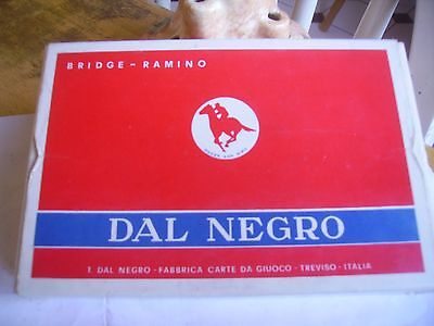 """Vintage quality twin pack """"Dal Negro"""" playing cards from Italy 1970s."""