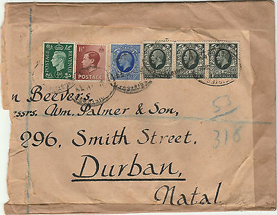 Registered Cover Piece / Half Cover to South Africa KGVI KGV KEVIII Definitives