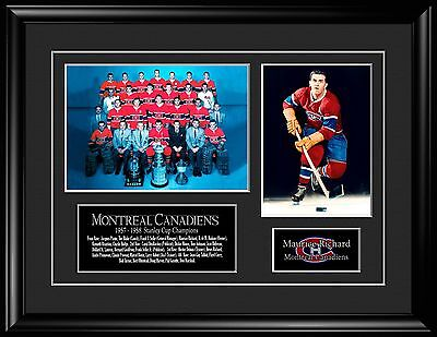 """1957-58 Montreal Canadiens Stanley Cup With Maurice """"Rocket"""" Richard Pictures"""