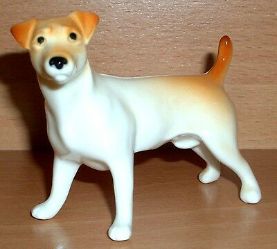 Hand Made Collectable Porcelain Jack Russell Terrier Dog Figurine