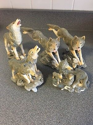 Lot Of Wolf Figurines