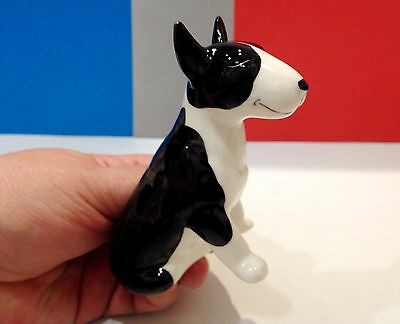 Bull Terrier porcelain figurine dog Russia fighting breed color black & white