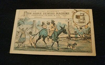 Vintage New Home Sewing Machine Trade Card. Johnson,clark&co