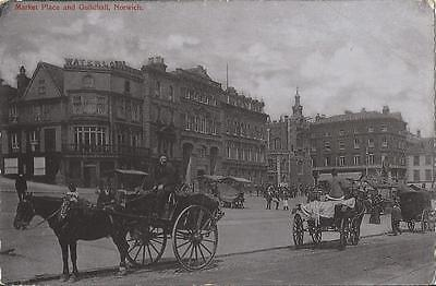 Market Place And Guildhall ,norwich 1905