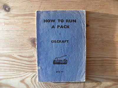 """UK Scouting Book """"How to Run A Pack"""", 1952, 118 Pages, Paperback"""