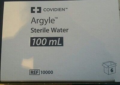 Kendall Sterile Water Not for Injection Bottle 3.5oz Box of 6