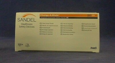 Ansell 2200 Sandel Change-A-Blade Handle #3 Box of 12 NEW