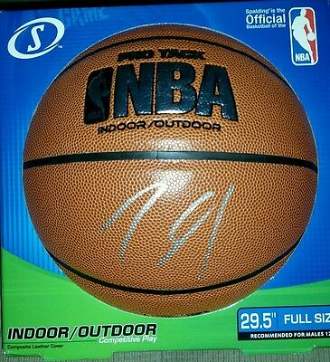 Karl-Anthony Towns Signed Autographed NBA Full Sized Basketball TWolves Star