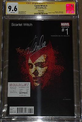Scarlet Witch 1 CGC 9.6 SIGNED BY STAN LEE Eminem Relapse Variant Cover hip hop