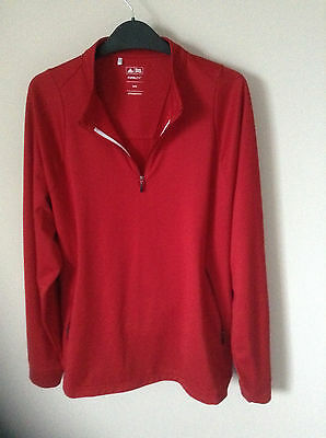 Adidas men's Climalite golf top red M