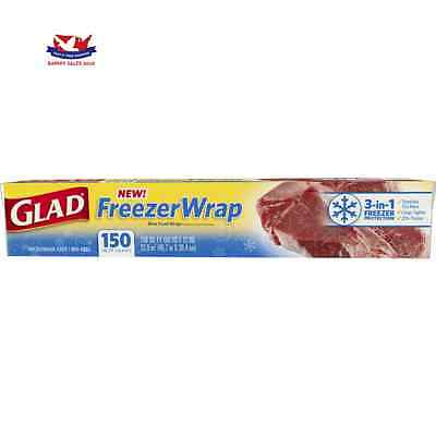 Genuine Glad Freezer Wrap, 150 Square Foot Roll