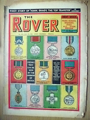 Comic-THE ROVER, No.1519, 7 Aug 1954; MEDALS WON by the LIFEBOATMEN of BRITAIN