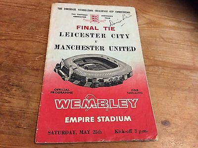1963 FA Cup Final Signed By Denis Law Manchester United