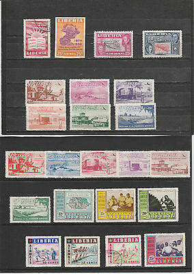 LIBERIA 1950s collection with good Air sets mainly LM MINT